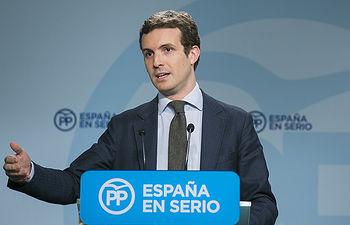 El vicesecretario de Comunicación del PP, Pablo Casado