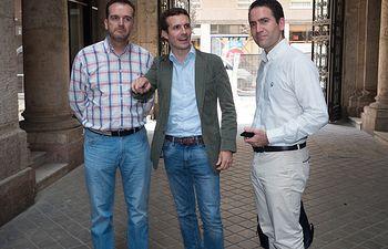 Antonio Martínez Iniesta, Pablo Casado y Teodoro García Egea. Archivo.