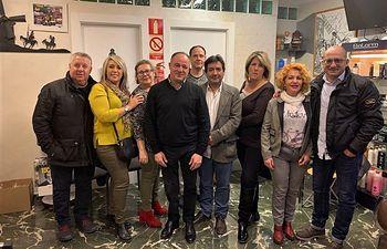 Reunión de Emilio Sáez con la Asociación Provincial de Peluquería y Afines de Albacete (APAF).