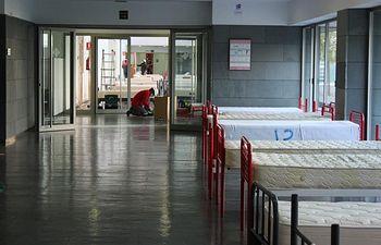 Coronavirus - Arrancan las obras del hospital de campaña en Albacete.