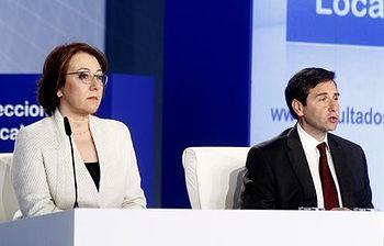 La secretaria de Estado de Comunicación, Carmen Martínez Castro, y el subsecretario de Interior, Luis Aguilera. Foto: Pool Moncloa / Acceso libre.