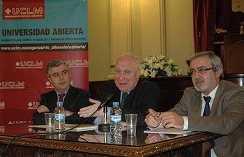 De izqda a dcha, Antonio Roncero, Rubén Berenblum y Miguel Pardo.