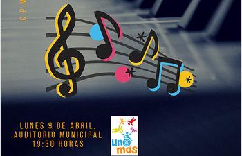 Cartel del Concierto Benéfico 9 abril.