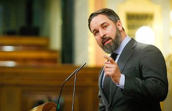 El presidente de VOX, Santiago Abascal, defiende su postura sobre la nueva prórroga del estado de alarma.