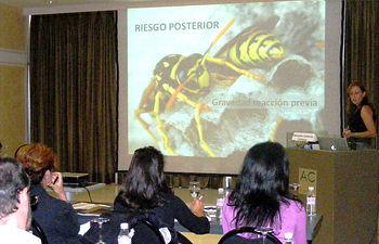 Imagen de la jornada de trabajo celebrada en Guadalajara en la que alergólogos de Castilla-La Mancha y Madrid se han puesto al día sobre el veneno de los himenópteros.