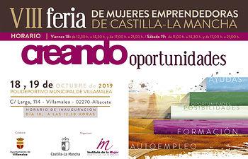 Cartel VIII Feria de Mujeres Emprendedoras de C-LM.