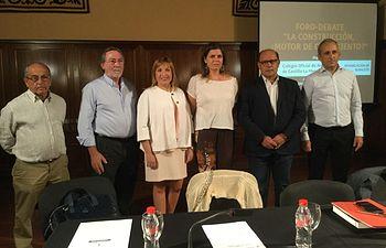 """Durante el Debate, """"La construcción, ¿motor de crecimiento?"""", organizado por el Colegio Oficial de Arquitectos y desarrollado en el Centro Cultural La Asunción de Albacete capital"""