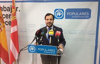 Eduardo García Villajos, concejal del PP en el Ayuntamiento de Alcázar de San Juan.