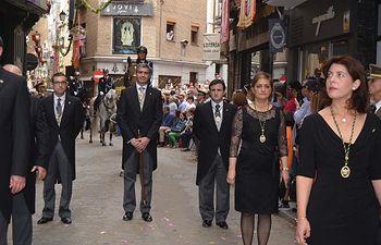 Álvaro Gutiérrez y miembros de la Corporación Provincial en la procesión del Corpus de Toledo