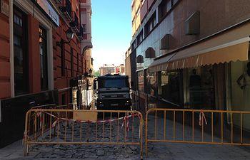 El Ayuntamiento de Guadalajara ya está renovando la calle Pintor Antonio del Rincón