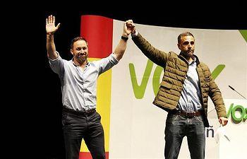 Santiago Abascal y Fernández Lomana. Acto en Albacete.