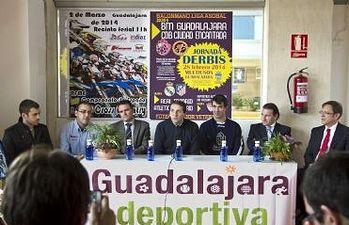Eladio Freijo, concejal de Deportes, durante la presentación de los derbis deportivos del fin de semana de Carnaval
