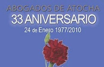 Cartel del Acto de homenaje a los abogados de Atocha