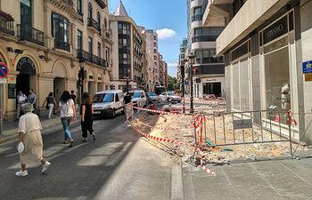 Obras calle Tesifonte Gallego.