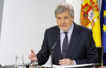 El ministro de Educación, Cultura y Deporte y portavoz del Gobierno, Íñigo Méndez de Vigo.