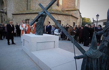 Inauguración del conjunto escultórico dedicado a la Semana Santa.