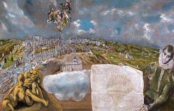 Cuadro de El Greco. Vista y plano de Toledo. Foto: Ministerio.