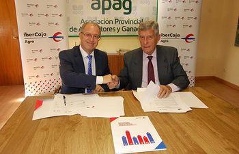 APAG e Ibercaja estrechan su colaboración. Foto: ASAJA CLM.