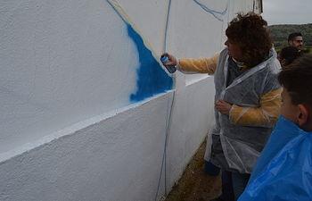 Patricia Franco conoce el proyecto 'Titanes', de Laborvalía en Corral de Calatrava