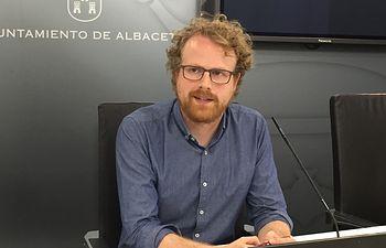Álvaro Peñarrubia, portavoz de Ganemos Albacete.