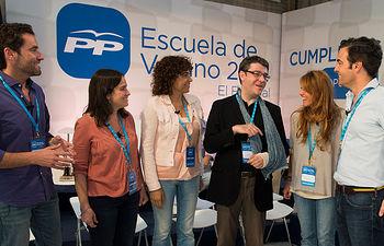 Debate en la Escuela de Verano del Partido Popular.