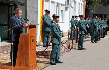 Jesús Labrador, durante el acto de toma de posesión del Teniente Coronel de la Comandancia de la Guardia Civil en Cuenca.