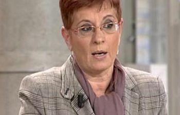 Begoña García Retegui en un momento de la entrevista