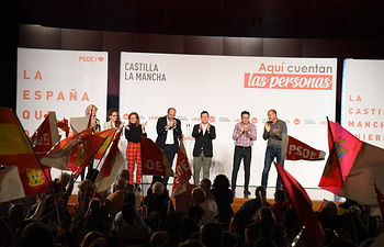 Emiliano García-Page en Mota del Cuervo.
