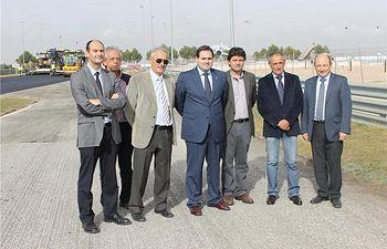 El presidente de la Diputación, Francisco Núñez, visita las obras de remodelación del Circuito de Velocidad de Albacete