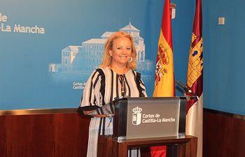 Gema Guerrero, portavoz de Empleo y Empresas del Grupo Parlamentario Popular en las Cortes de Castilla-La Mancha.