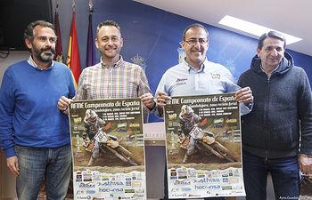 Presentación del Campeonato de España de  Cross Country y Enduro; Juan Blanco, presidente del Motoclub Alcarreño