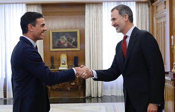 Audiencia del Rey a Pedro Sánchez, del Partido Socialista Obrero Español (PSOE).