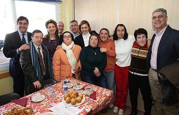 Cospedal asiste al desayuno de Navidad del Centro Integral de Atencion AMAFI