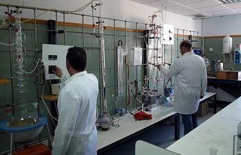 Laboratorio de la Escuela de Ingeniería Minera e Industrial de Almadén.