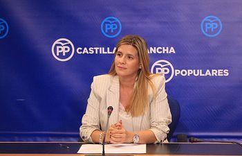 Carolina Agudo, en rueda de prensa.