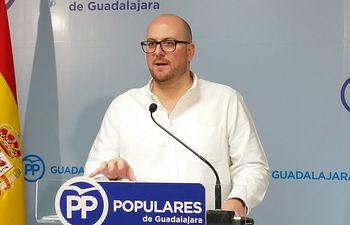 Lucas Castillo, portavoz del PP de Guadalajara.