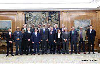 El Rey recibe en audiencia al Comité Ejecutivo de la Federación Española de Hostelería