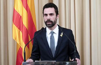 Roger Torrent, presidente del Parlament. Foto: Parlamento de Cataluña.