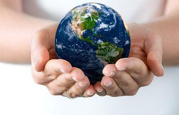 Planeta Tierra. Imagen de archivo.