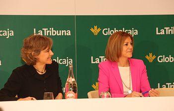 Presidenta Cospedal junto a Isabel Garcia Tejerina en el desayuno organizado por La Tribuna