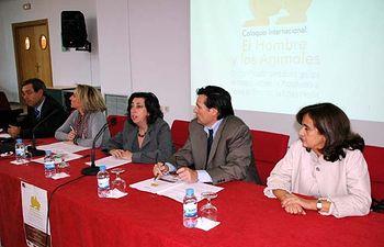 De izqda. a dcha.: Francisco Ruiz, Rosario Roncero, Mairena Martín, Matías Barchino y Rosario García.