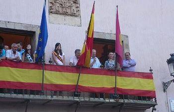 Un momento del pregón de las fiestas de Atienza a cargo de José María Bris.