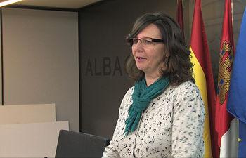 Victoria Delicado, portavoz del Grupo Municipal de IU en el Ayuntamiento de Albacete.