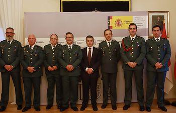 Reconocimiento a la Guardia Civil por su colaboración durante el incendio forestal de Yeste.