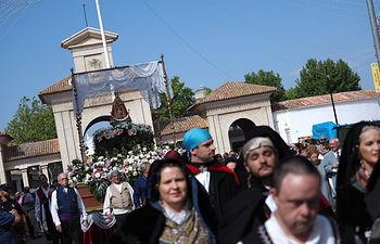 Misa Manchega de despedida de La Virgen de Los Llanos de su capilla en la Feria de Albacete. Foto: Manuel Lozano Garcia / La Cerca