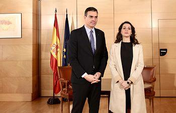 Reunión Pedro Sánchez e Inés Arrimadas. Foto: Inma Mesa Cabello