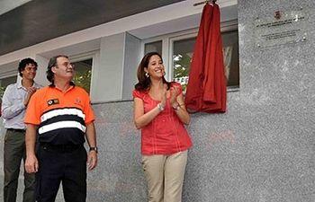La alcaldesa de Ciudad Real en la inauguración de la sede de Protección Civil