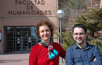 Ángel Galdón junto a la directora de su tesis, Margarita Rigal.
