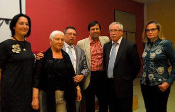 Algunos de los asistentes al homenaje a Leónides Montero