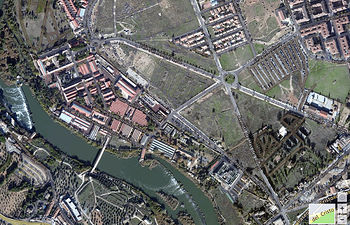 Imagen del Campus Tecnológico de la Fábrica de Armas de Toledo en HERE.